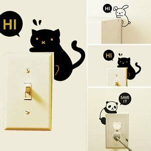 2pcs removable home light switch wall decal vinyl wall stickers ebay