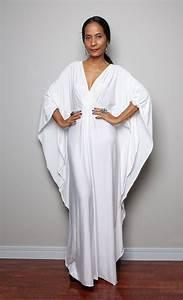 White Maxi Dress - Kaftan Kimono Butterfly Dress: Funky ...