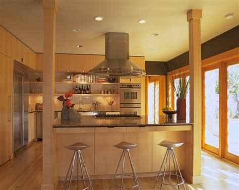 kitchen island with posts contemporary kitchen by brand architecture