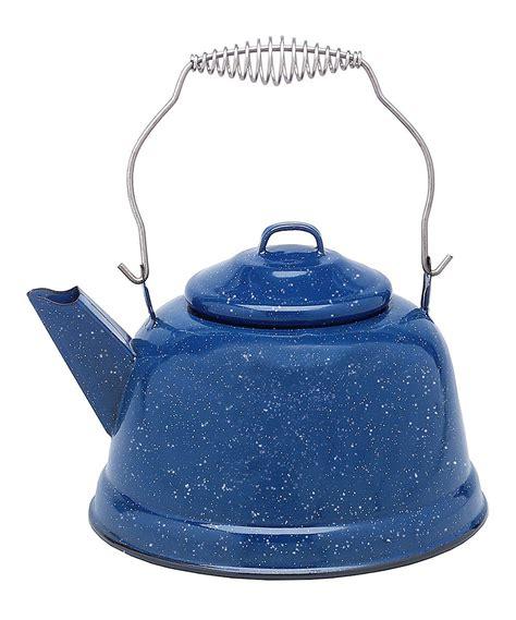 graniteware blue enameled steel  qt tea kettle tea kettle kettle enameled steel
