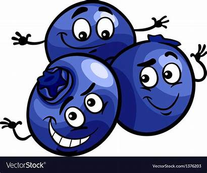 Blueberry Cartoon Funny Fruits Vector Royalty