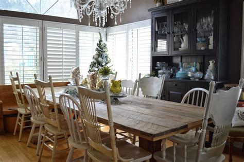 rustic dining table with mismatched chairs decor references
