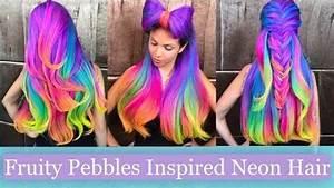 Guy Tang Fruity Pebbles Inspired Neon Hair