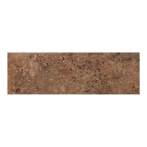 American Olean Glass Tile Trim by Shop American Olean Vallano Chocolate Ceramic