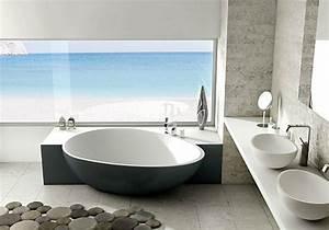 idees de deco de salle de bain en style marin With salle de bain style bord de mer