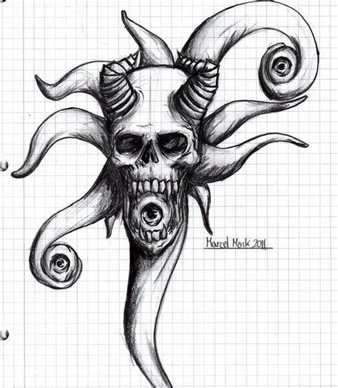 devil skull sketch  noobdevil  deviantart