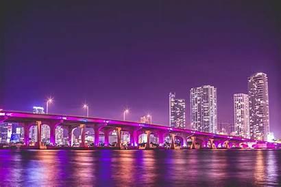 Vice Miami Florida Wallpapers Night Bridge