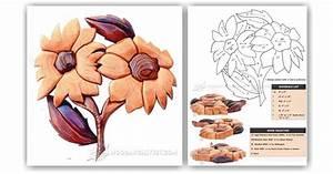 Flowers - Intarsia Patterns • WoodArchivist