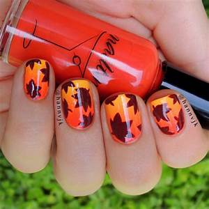 Fall Leaves Nail Art Pictures, Photos, and Images for ...