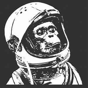 Chimp Astronaut T-shirt Monkey Tee Shirt   T-shirts ...