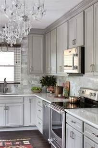 Gray Kitchen Cabinets Backsplash Ideas