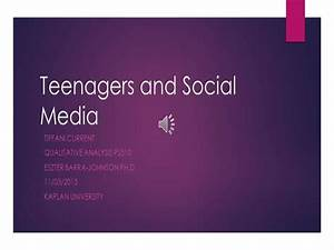 Teenagers And Social Media Powerpoint
