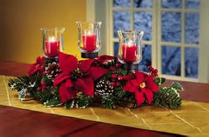 christmas decorations 3 christmas poinsettia and pinecone candle holder centerpiece by