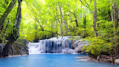 Beautiful Nature Erawan Waterfall In Thailand Hd Wallpaper