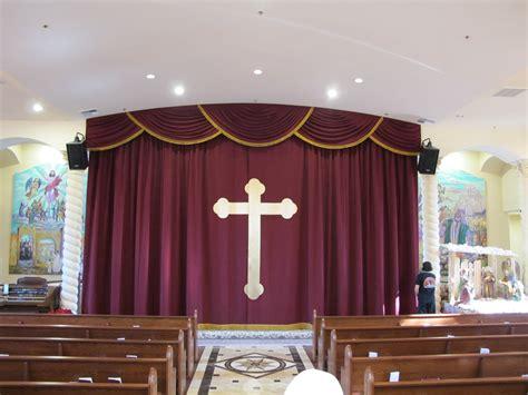 church altar curtains with cross appliqu 233 church stage