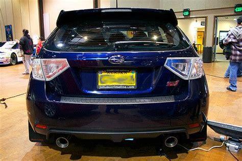 dark purple subaru buy used 2011 subaru impreza wrx sti wagon plasma blue