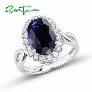 silver rings for women engagement wedding ring blue stone With wedding rings with blue stones