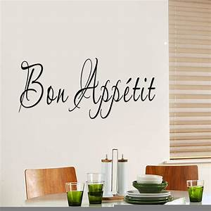 2016 bon appetit french quote wall sticker removable home With what kind of paint to use on kitchen cabinets for kitchen sayings wall art