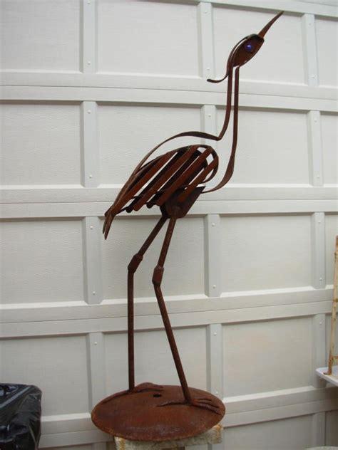 bird sculpture wrought iron  cumpston  sale  stdibs