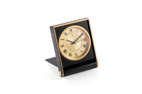 jaeger lecoultre table clock jaeger lecoultre steel table clock
