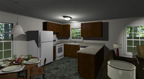 kitchen design bradford model 1114 3br 2ba southern integrity enterprises inc 1114