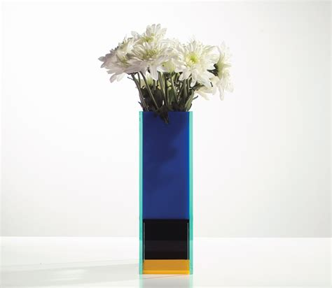 Mondrian Vase mondrian vase composition with yellow and blue 1930