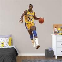 lovely nba wall decals Magic Johnson - Life-Size Officially Licensed NBA Removable Wall Decal