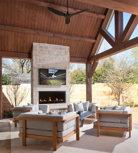 magnificent outdoor fireplace pictures  stone  houzz
