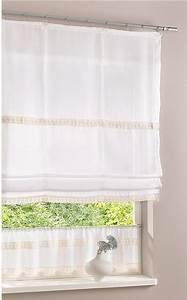 Scheibengardine My Home : 1 st raffrollo 80 x 140 wei creme flauschband vorhang spitze h kel optik neu ebay ~ Indierocktalk.com Haus und Dekorationen