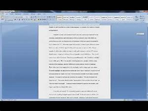 How To Format Work Cited Creating Mla Works Cited Page In Word 2007 Youtube