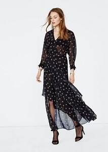 robe longue fluide imprimee With robe fluide imprimée