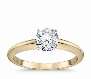 classic four prong solitaire engagement ring in 18k yellow With classic wedding ring