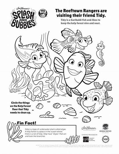 Coloring Pbs Pages Splash Bubbles Printable Ocean