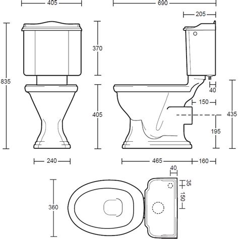 toilet dimensions imperial drift coupled toilet pan and cistern Toilet Dimensions