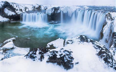 waterfall snow hd wallpaper  wallpaperscom