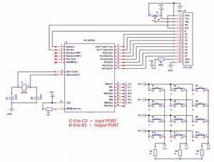 Matrix Keypad  4x3  Interface With Microcontroller