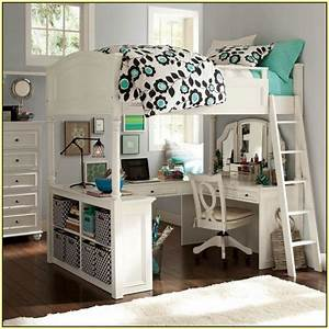 Girls, Loft, Bed, With, Desk, Design, Ideas, And, Benefits