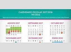 Billetes Calendario escolar 20172018 México