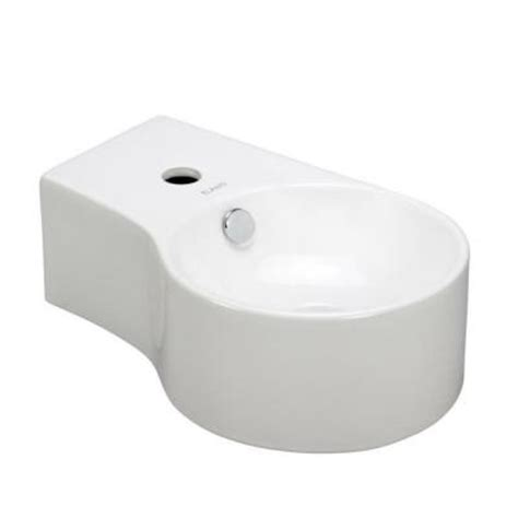elanti wall mounted round deep bowl right facing bathroom
