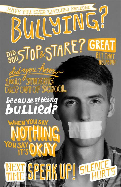 25+ Best Ideas About Bullying Posters On Pinterest Cyber