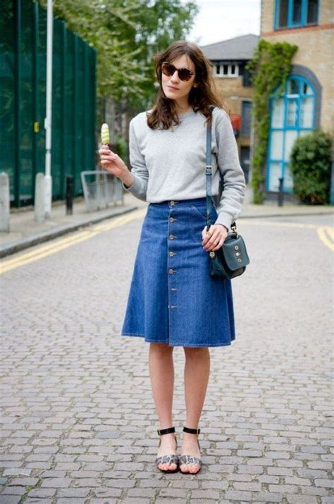 A-line Skirt Outfit Ideas 2018   FashionTasty.com