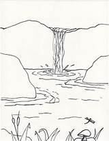 Waterfall Drawing Draw Sketch Falls Drawings Clipart Foreground Background Easy Pagsanjan Lesson Creator Joy Nature Landscape Waterfalls Sketches Creatorsjoy Pencil sketch template