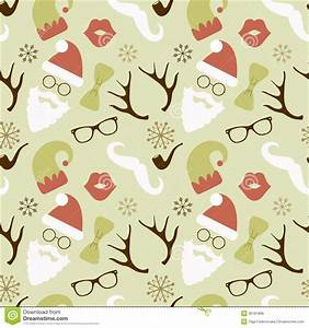 Christmas Hipster Retro Seamless Pattern Royalty Free ...