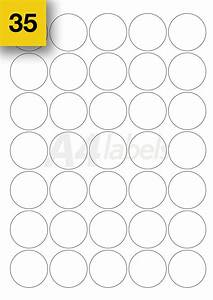 37mm round a4 sticky circle blank printer labels 35 per for Circle printer labels