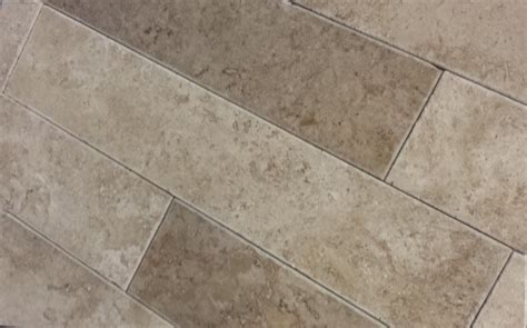 travertine plank tile noce plank tumbled filled and honed