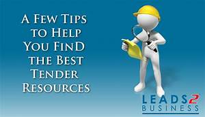 A Few Quick Tips to Help You Find the Best Tender ...