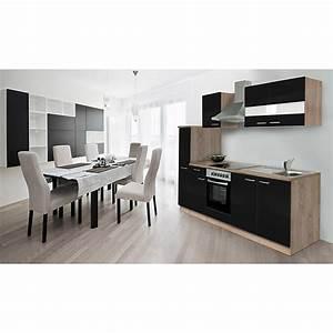 Küchenzeile 240 Cm : respekta k chenzeile kb240essc breite 240 cm schwarz ~ Orissabook.com Haus und Dekorationen