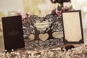 3d magic tree wedding invitation card laser cut cw5023 With 3d printed wedding invitations