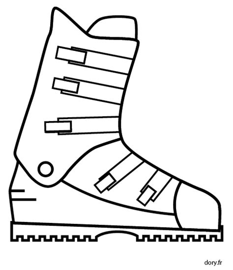 ski cuisine dessin gratuit à imprimer une chaussure de ski dory fr