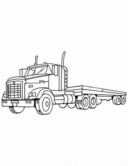 Coloring Semi Truck Load Empty Netart